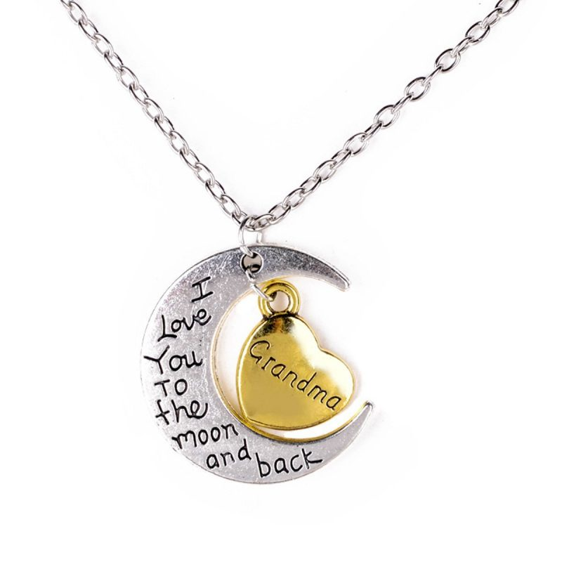 Moon and back pendant (daughter, grandma, aunt options and more) 67p – £1.28!    [affiliate link]