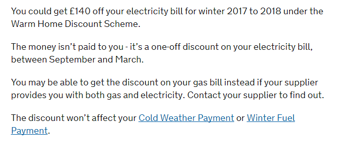 Warm home discount scheme – Get £140 Off your electricity bill if you qualify