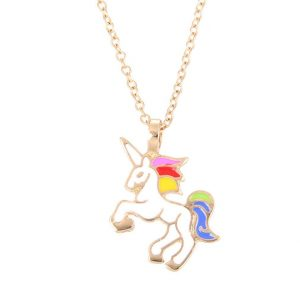 Unicorn necklace in gold or silver 89p with FREE delivery! [affiliate link]
